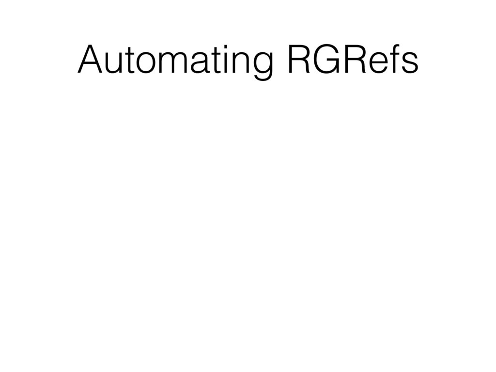 Automating RGRefs