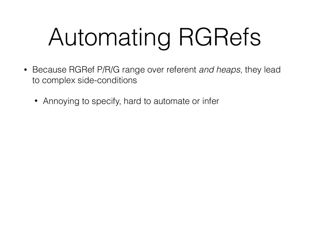 Automating RGRefs • Because RGRef P/R/G range o...