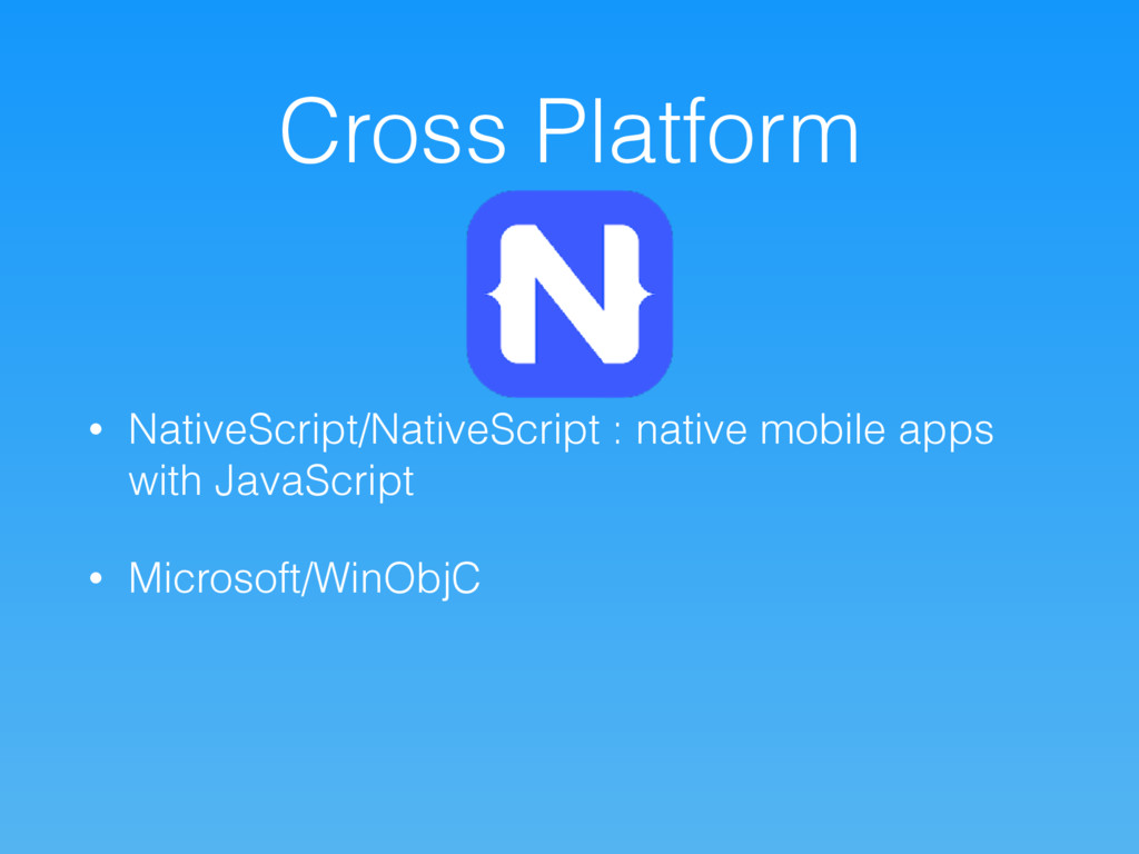 Cross Platform • NativeScript/NativeScript : na...