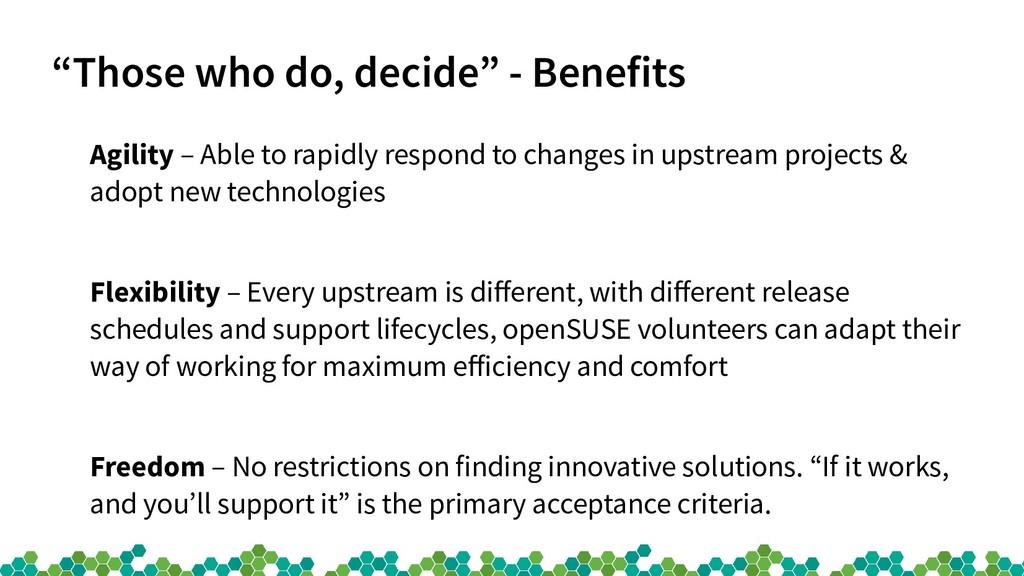"""Those who do, decide"" - Benefits Agility – Abl..."