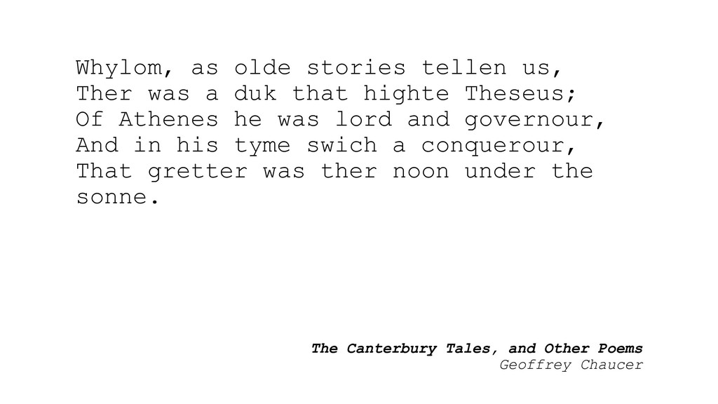 The Canterbury Tales, and Other Poems Geoffrey ...