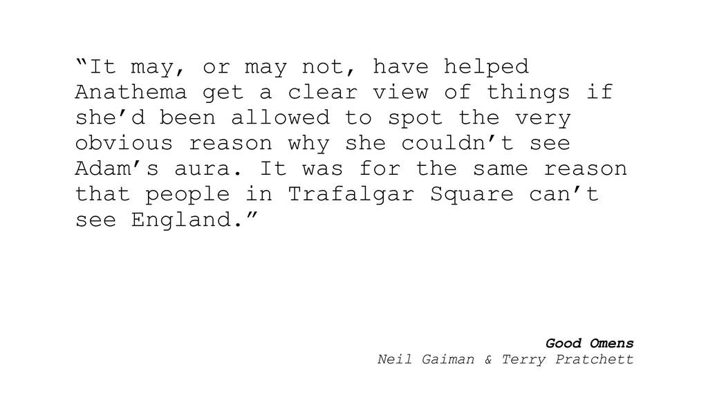 "Good Omens Neil Gaiman & Terry Pratchett ""It ma..."