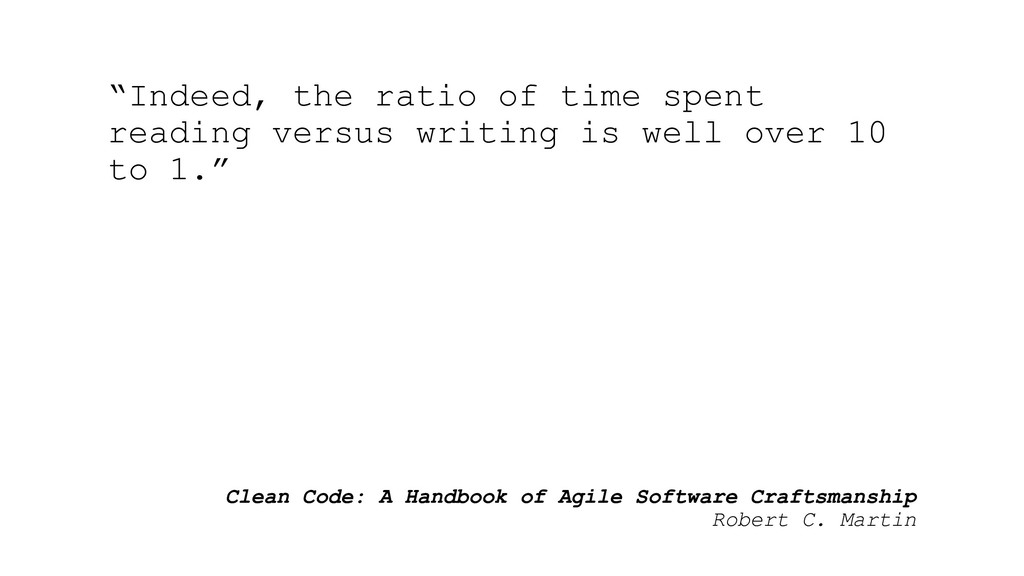 Clean Code: A Handbook of Agile Software Crafts...