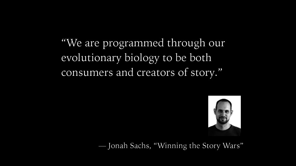 """We are programmed through our evolutionary bio..."