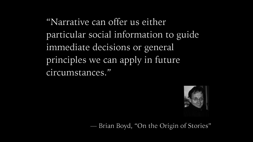 """""""Narrative can offer us either particular socia..."""