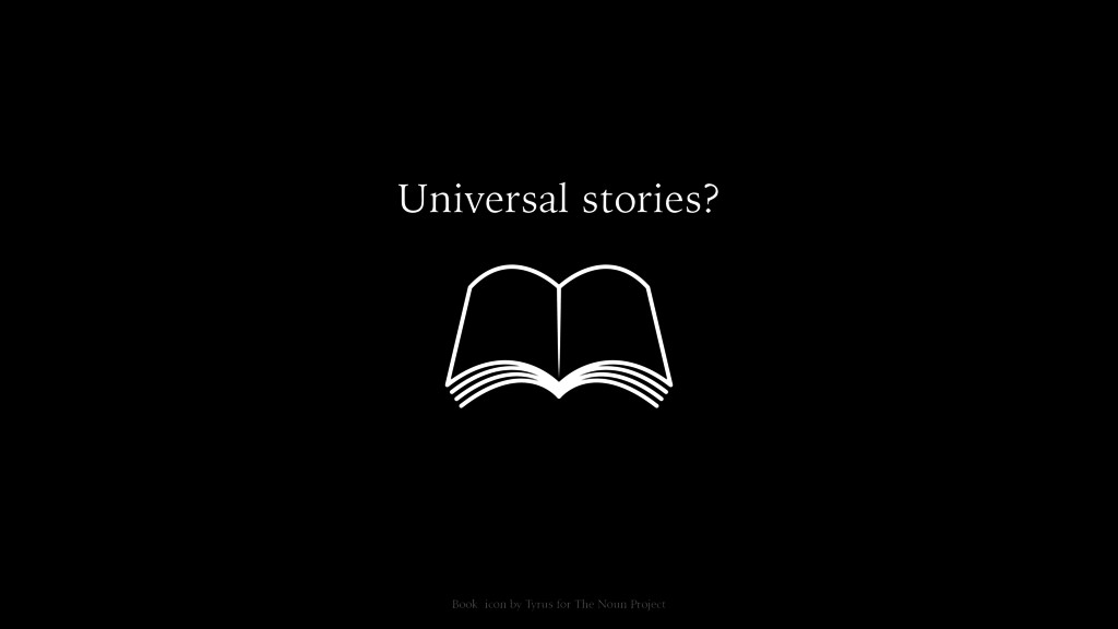 Universal stories? Book icon by Tyrus for The N...