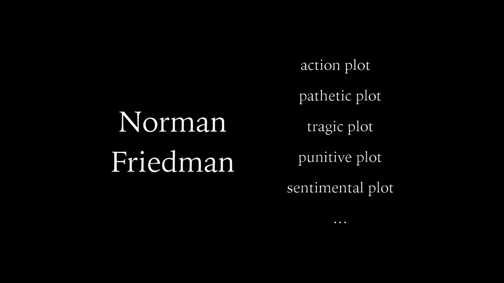 Norman Friedman action plot pathetic plot tragi...