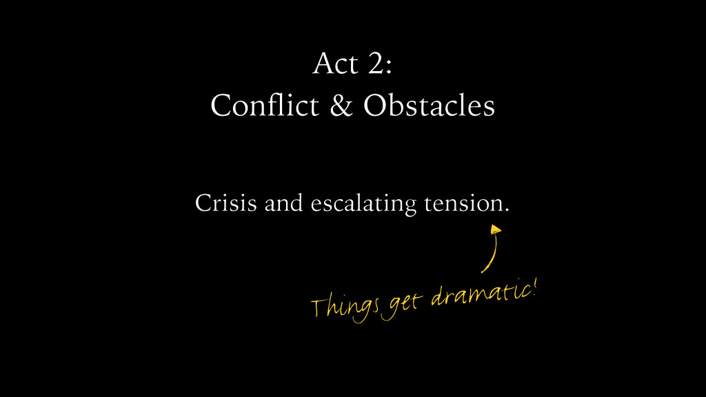 Act 2: Conflict & Obstacles Crisis and escalati...