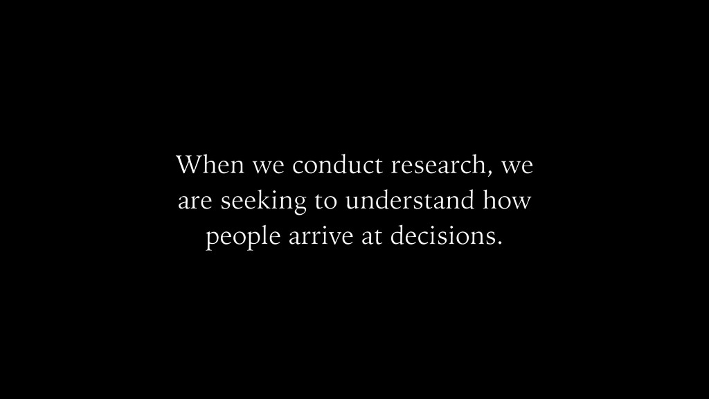 When we conduct research, we are seeking to und...