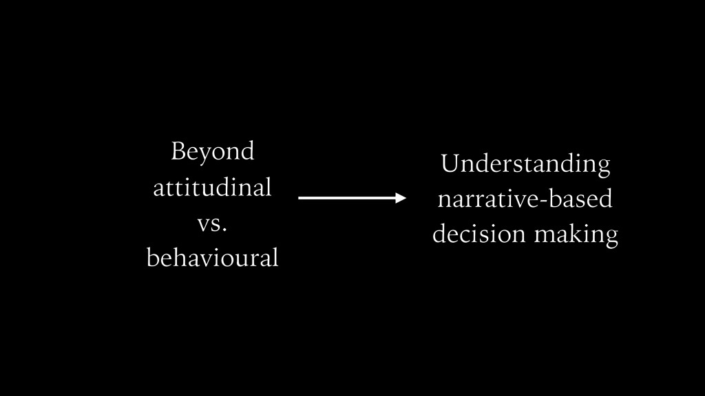 attitudinal vs. behavioural Understanding narra...