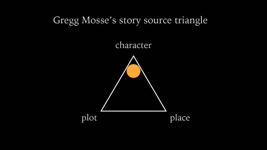 character plot place Gregg Mosse's story source...
