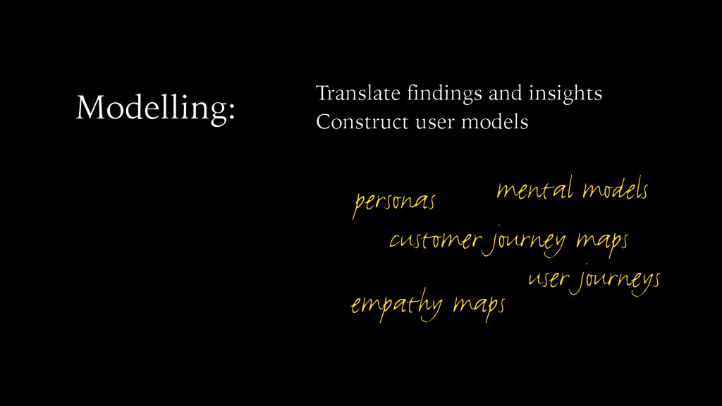 Modelling: Translate findings and insights Cons...