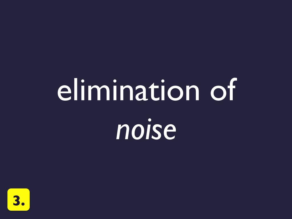 elimination of
