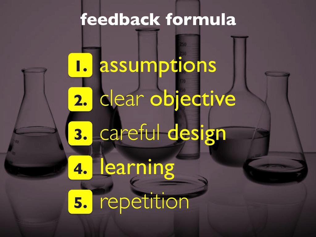 feedback formula  assumptions  clear object...