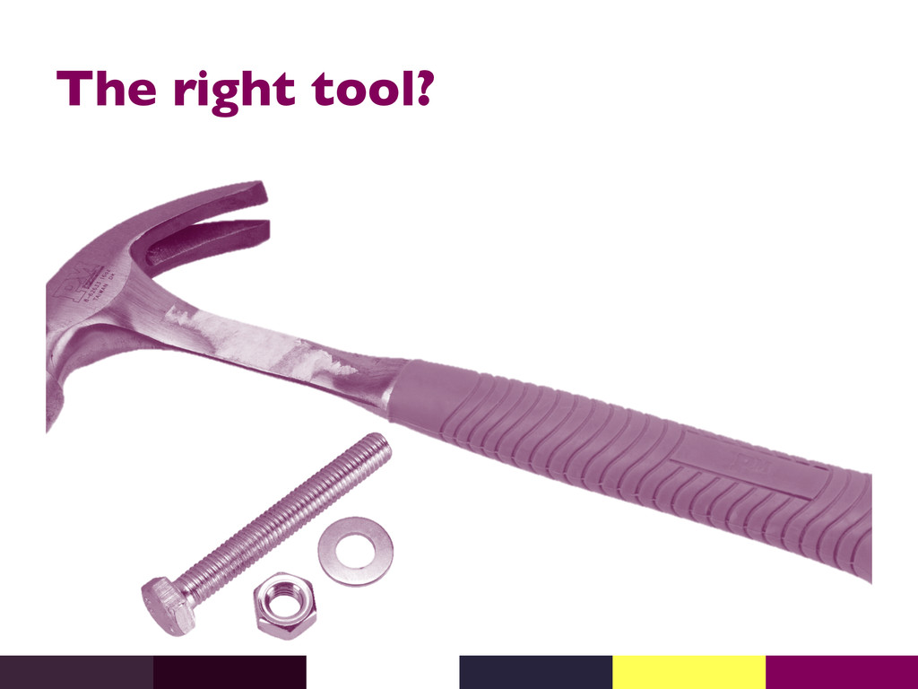 The right tool?