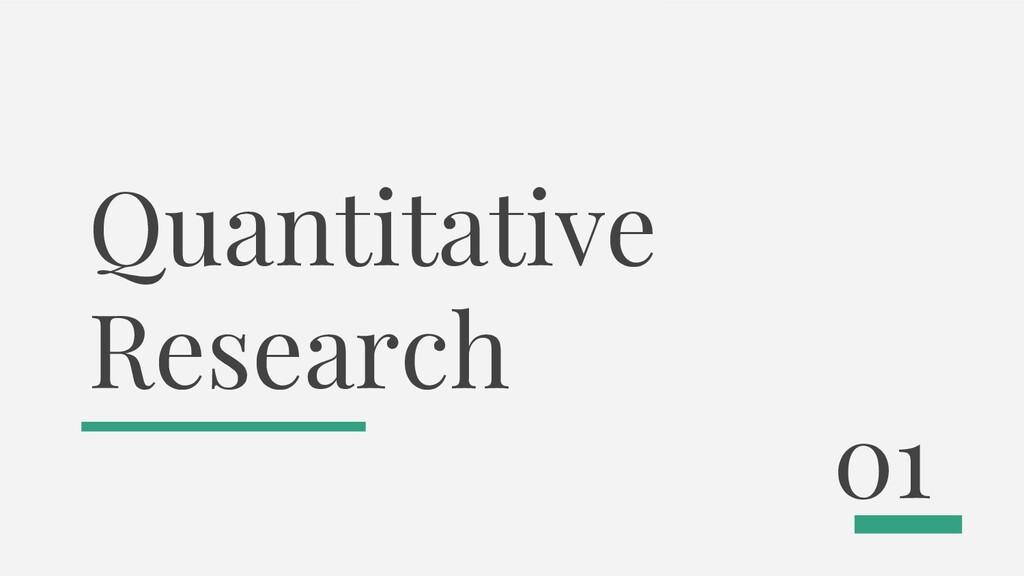 Quantitative Research 01