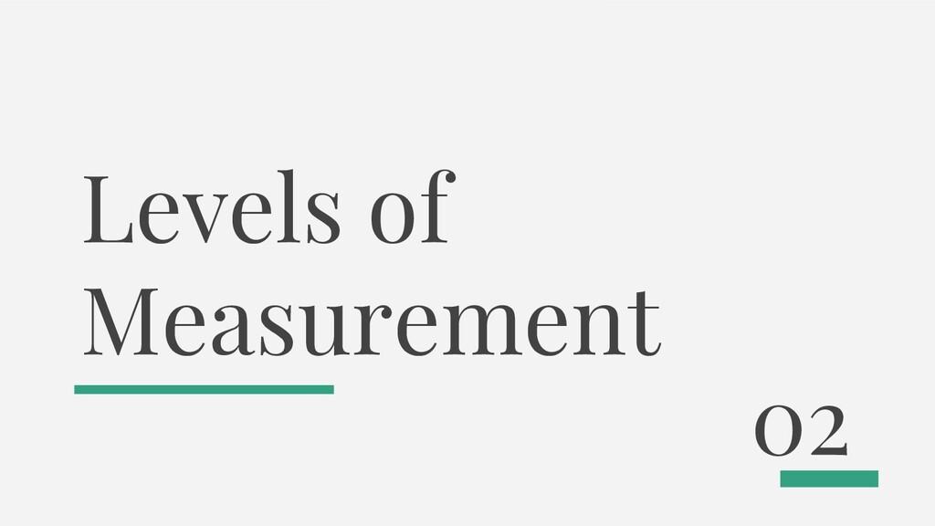 Levels of Measurement 02