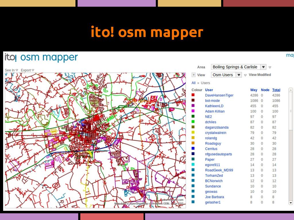 ito! osm mapper