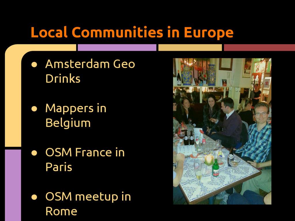 ● Amsterdam Geo Drinks ● Mappers in Belgium ● O...