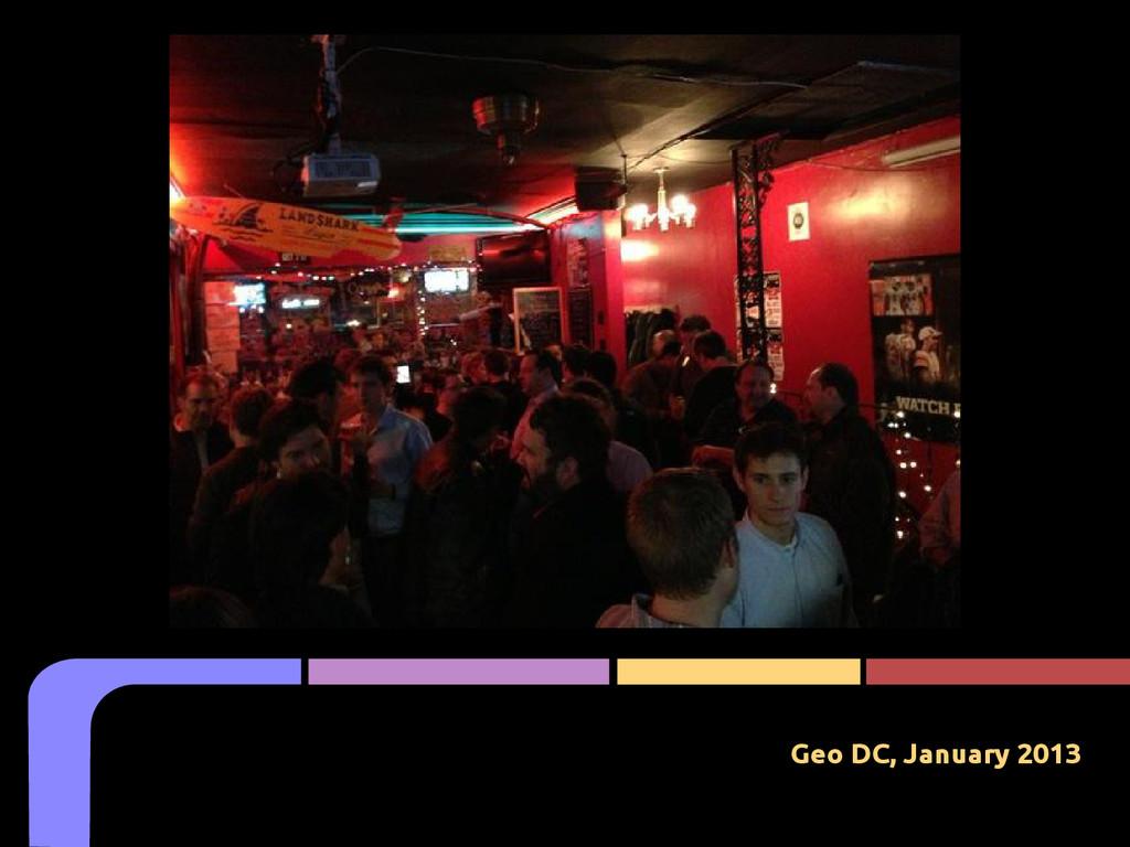 Geo DC, January 2013