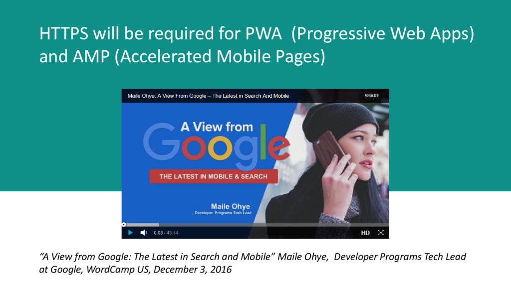 HTTPS will be required for PWA (Progressive Web...