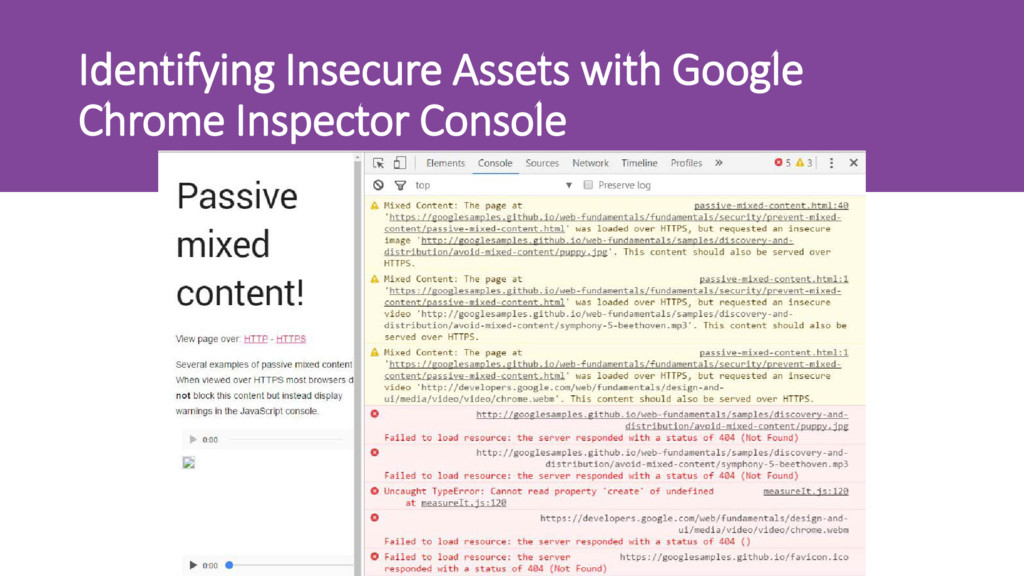 Identifying Insecure Assets with Google Chrome ...