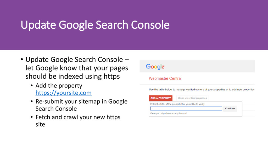 Update Google Search Console • Update Google Se...