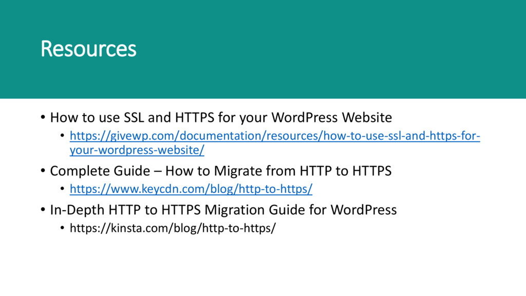 Resources • How to use SSL and HTTPS for your W...