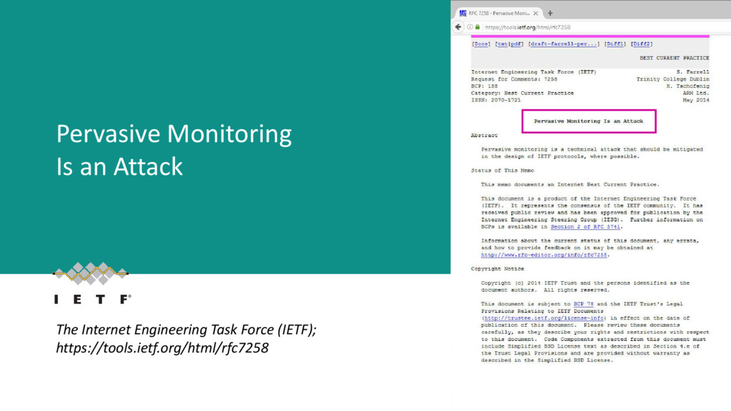 Pervasive Monitoring Is an Attack The Internet ...