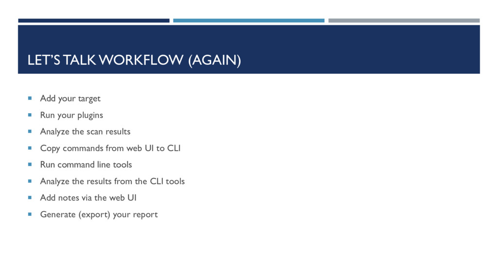 LET'S TALK WORKFLOW (AGAIN)  Add your target ...