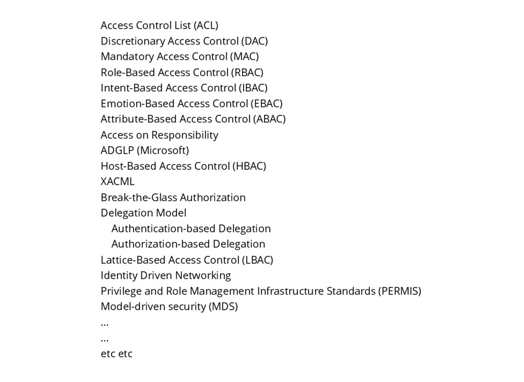 Access Control List (ACL) Discretionary Access ...