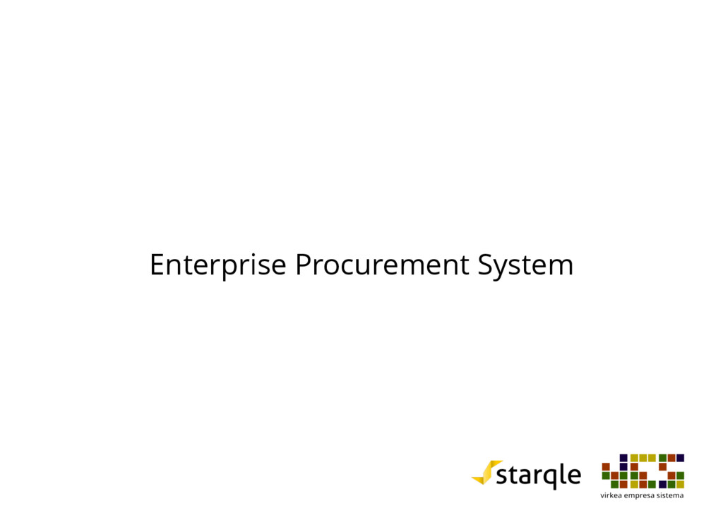 Enterprise Procurement System