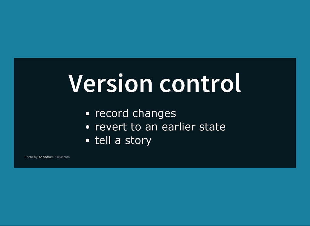 Version control record changes revert to an ear...