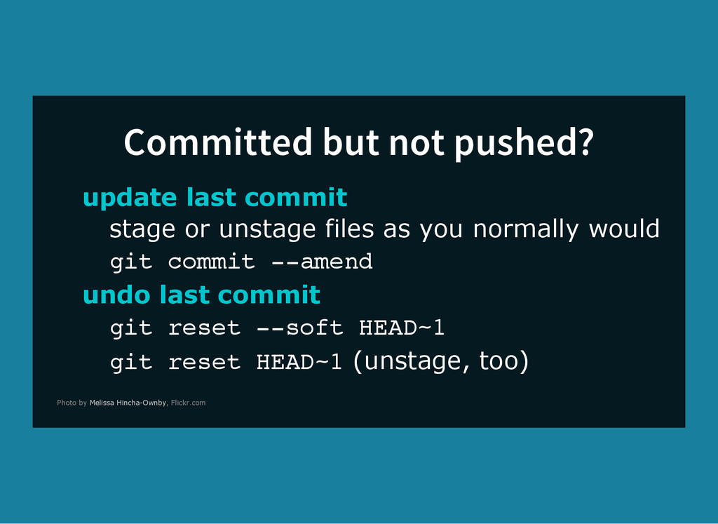 Committed but not pushed? update last commit st...