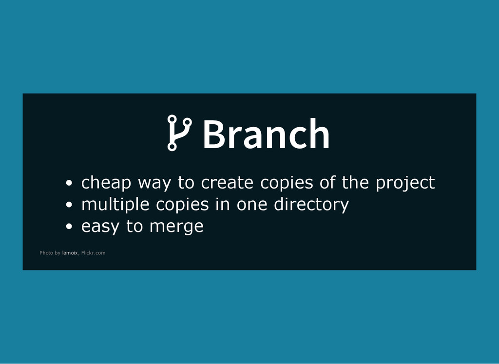 Branch cheap way to create copies of the projec...