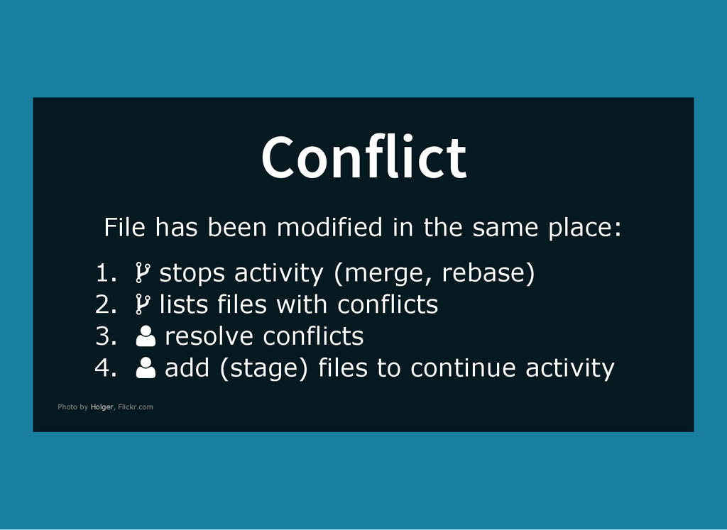 Conflict File has been modified in the same pla...
