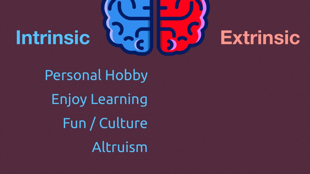 Intrinsic Extrinsic Personal Hobby Enjoy Learni...