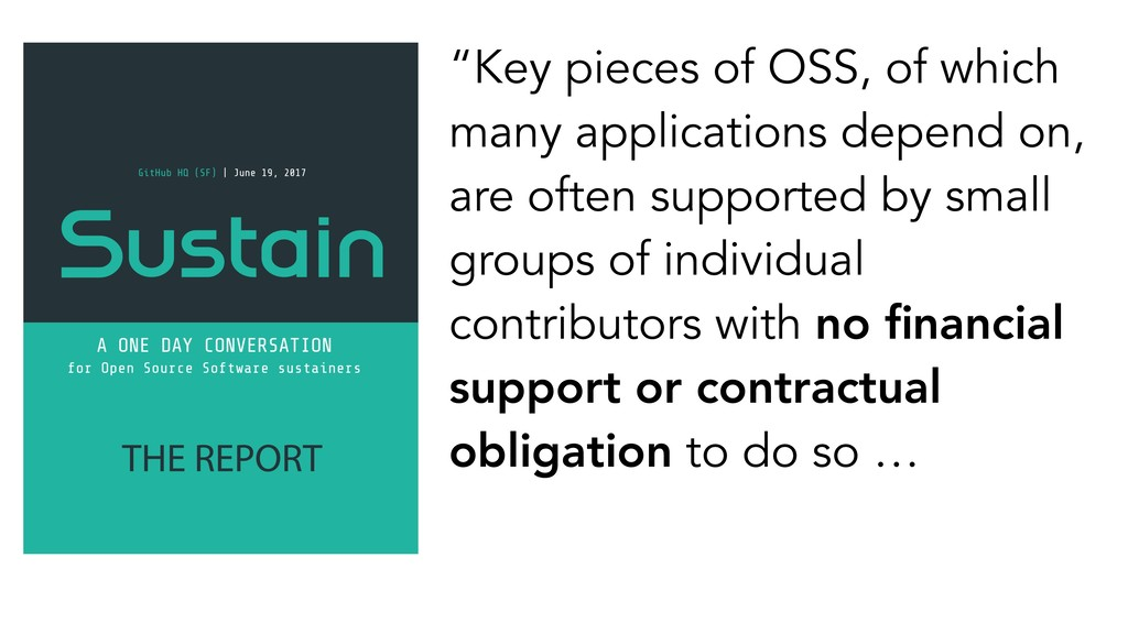 """Key pieces of OSS, of which many applications ..."
