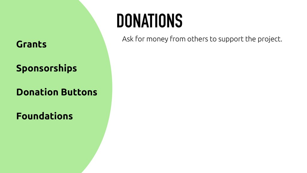 DONATIONS Donation Buttons Sponsorships Grants ...