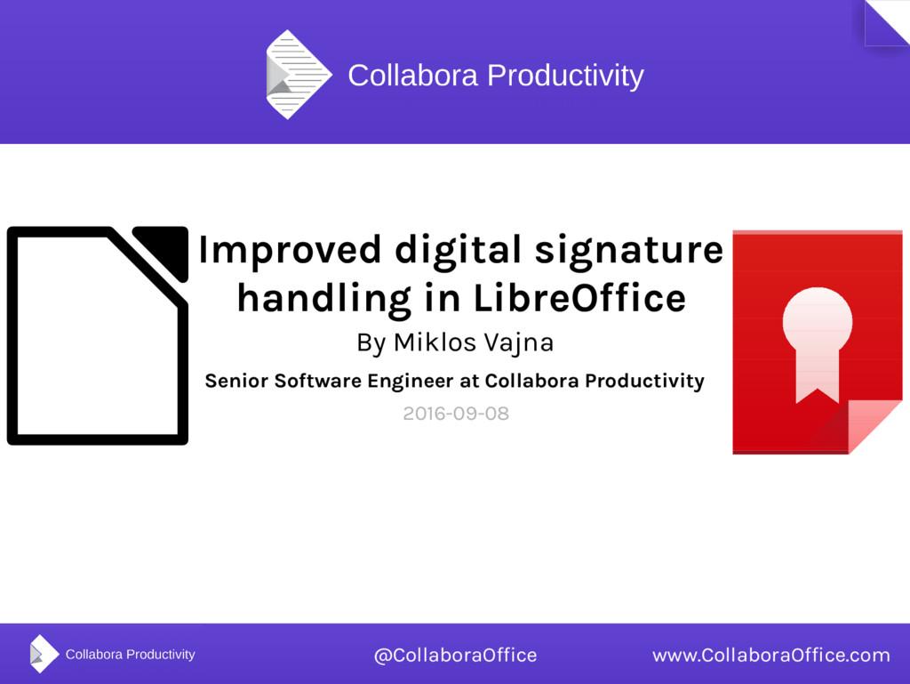 Improved digital signature handling in LibreOff...