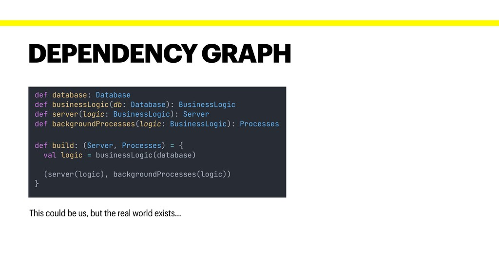 DEPENDENCY GRAPH This could be us, but the real...