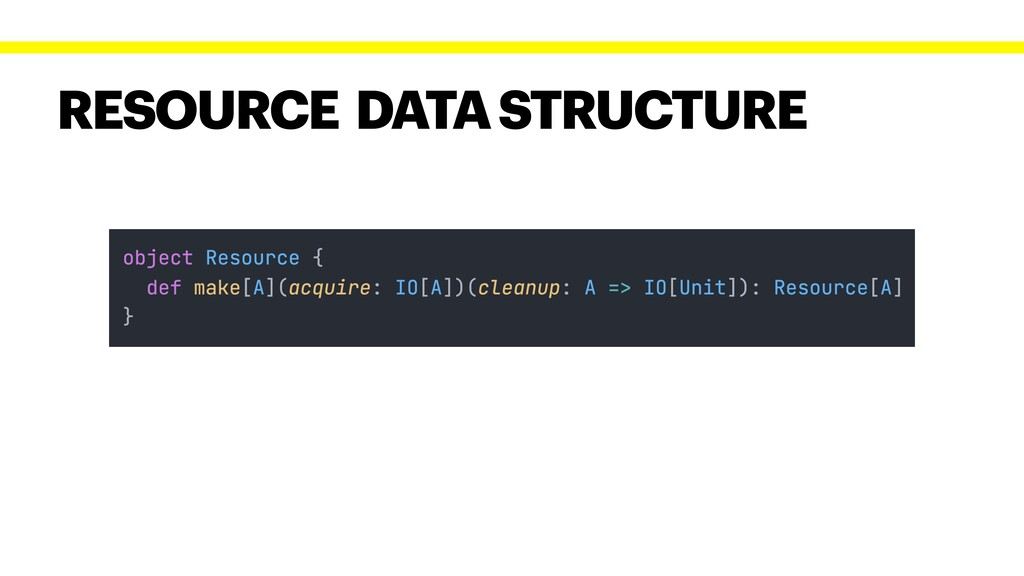 RESOURCE DATA STRUCTURE