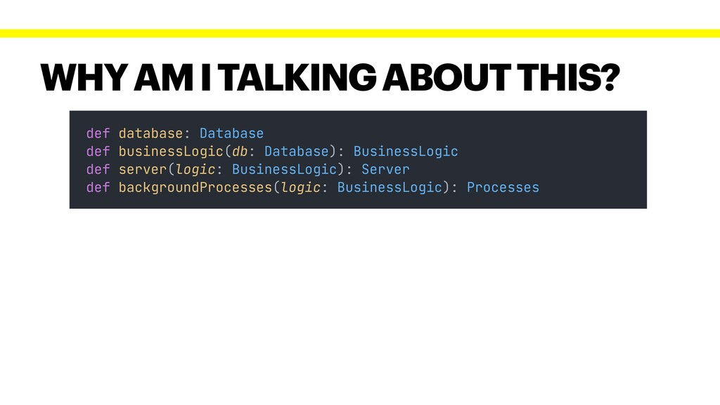 WHY AM I TALKING ABOUT THIS? def database: Data...