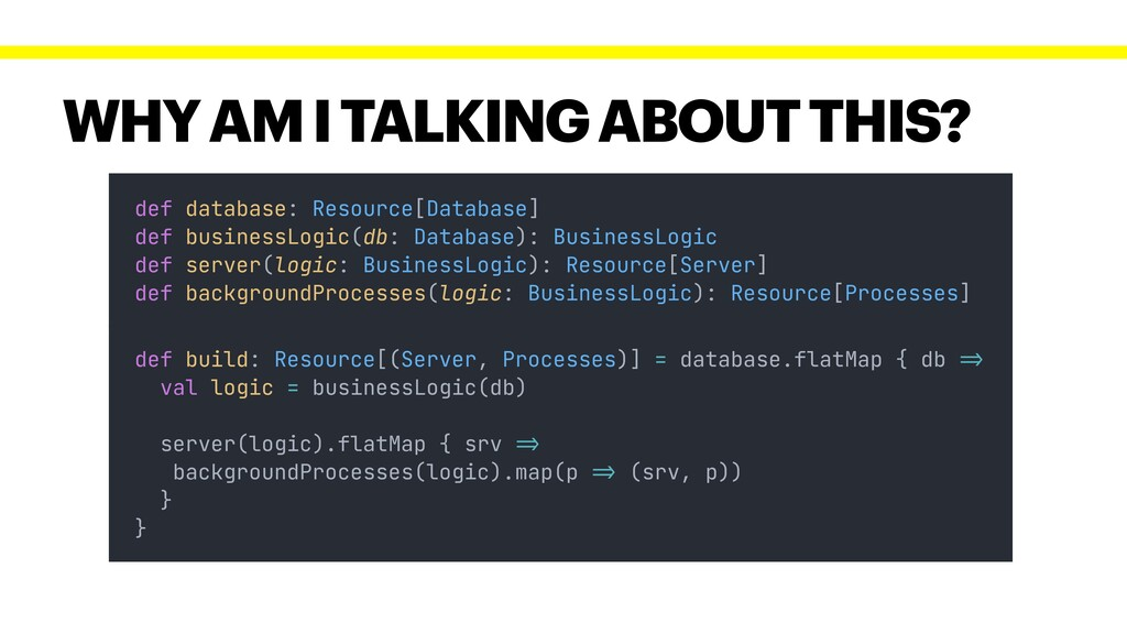 WHY AM I TALKING ABOUT THIS? def database: Reso...