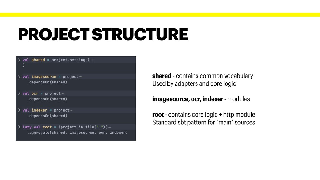PROJECT STRUCTURE shared - contains common voca...