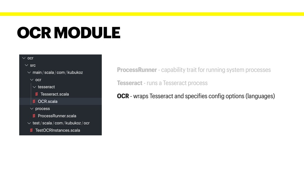 OCR MODULE ProcessRunner - capability trait for...