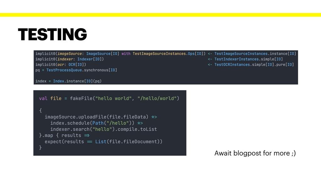 TESTING Await blogpost for more ;) index.schedu...