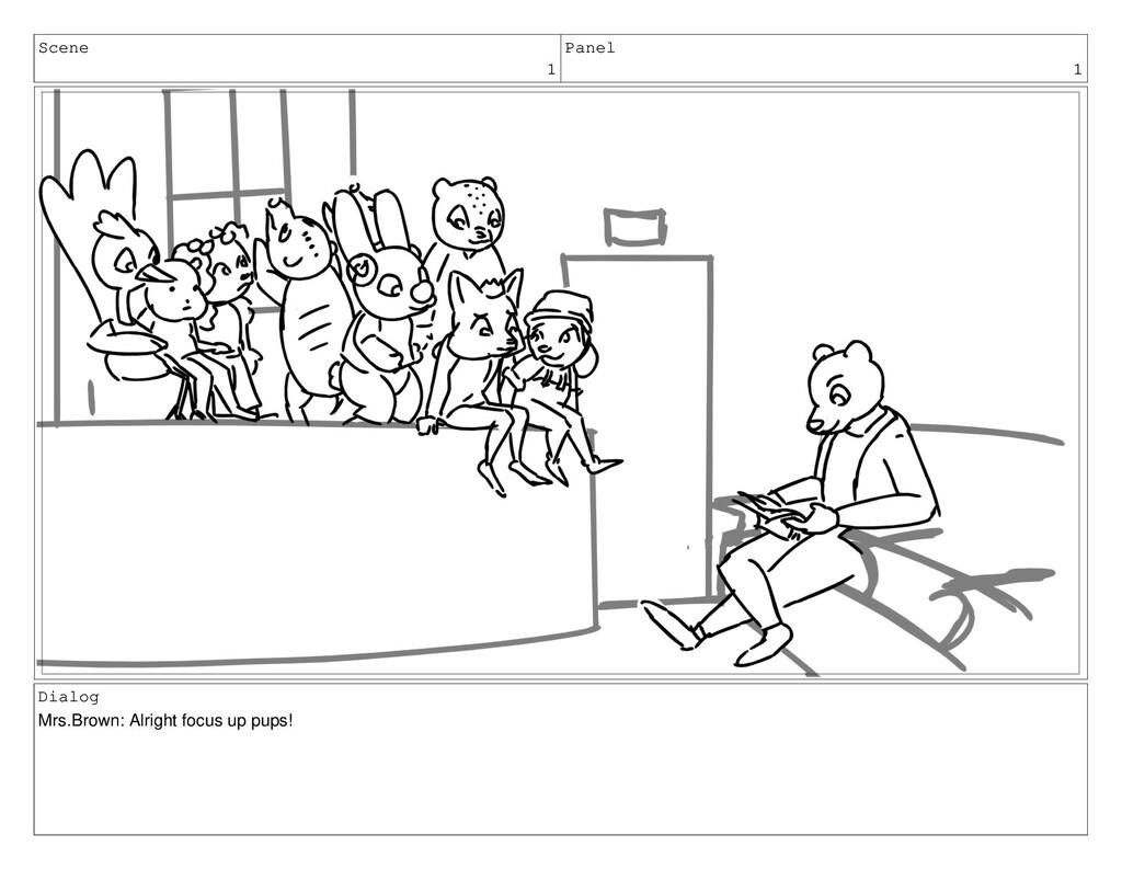 Scene 1 Panel 1 Dialog Mrs.Brown: Alright focus...