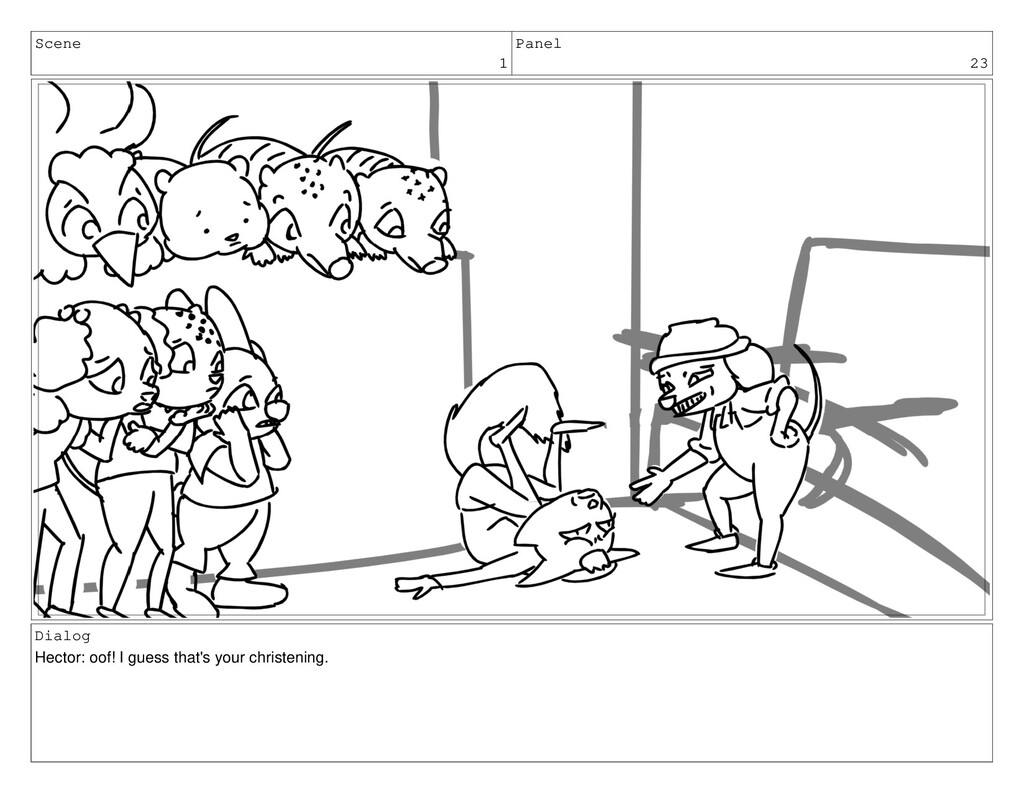 Scene 1 Panel 23 Dialog Hector: oof! I guess th...