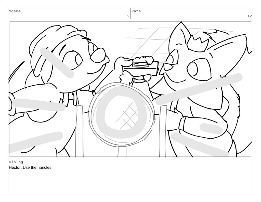Scene 2 Panel 12 Dialog Hector: Use the handles